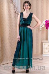 Шикарное выпускное вечернее платье в пол с кружевом, р. 42-46 снизили цену