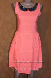 Платье с нарядным воротничком, разные цвета, р. 44, 46