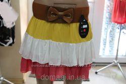 Летняя юбка хлопковая рюши, р. 42-46 Венгрия