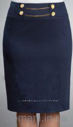 Деловая синяя юбка, размер 48-50, отличное качество, недорого