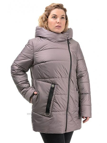 Красивейшая удлиненная деми куртка больших размеров G321, р.50-56