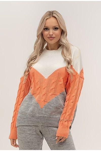 Яркий весенний свитерок Три цвета P3156, р.44-48