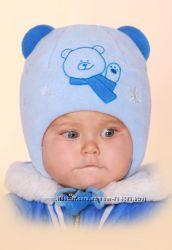 Зимняя шапка для мальчика Бабасик, р. 40, наличие