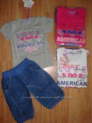 Комплект летний шорты и футболка для девочки. 98-128р. Венгрия.