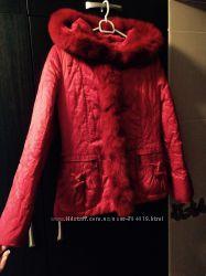 Яркая утепленная  осенняя куртка