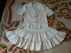 Комплект летний жакет и юбка, костюм