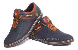 Спортивные кожаные туфли Timberland Sheriff синие