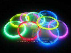 Светящиеся браслеты неоновые мультиколор 100 шт