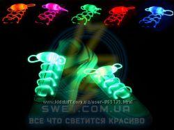 Светящиеся шнурки неоновые