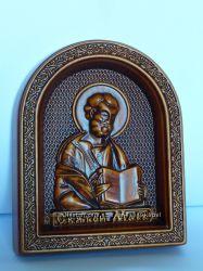 Икона резная деревянная Святой Марк