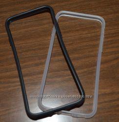 Iphone 6 силиконовый качественный бампер с экраном 4, 7 дюйма