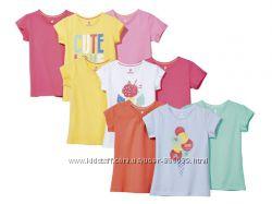 Набор  футболок фірми Lupilu із Гермнії оригінал 98-104, 110-116
