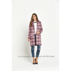 стильное пальто с добавлением шерсти пролет