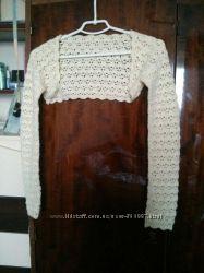 Болеро вязаное свадебное