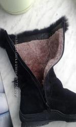 Срочно Зимние замшевые сапоги 24, 5 см стелька