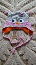 шапка сова 1 - 2 роки