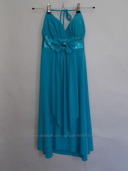 ff3e1c0ad50 Очень красивое платье голубого цвета размер М