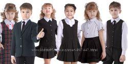 Школьный костюм для девочки школьная форма пиджак жакет сарафан юбка блузка