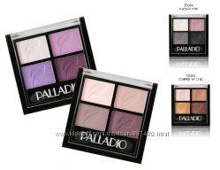 Высокопигментированная палитра теней для глаз Palladio Eyeshadow Quads.
