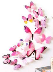 Бабочки для интерьера, декор интерьера, декор стен, бабочка.