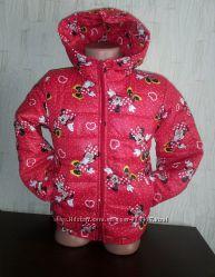 Курточка, куртка для девочки  осенняя Минни с сердечками