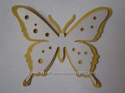 Бабочки картонные - декор для скрапбукинга