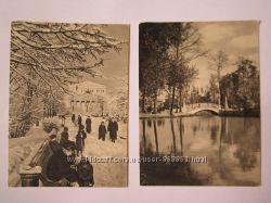 Винтажные открытки с видами городов и природой