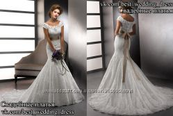 Новое кружевное свадебное платье рыбка AmaraRose салон Bride недорого