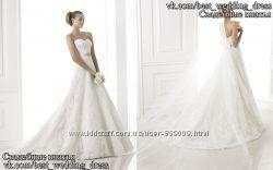 Новое кружевное свадебное платье А-силуэт Basma салон Bride недорого