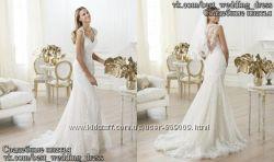 Новое кружевное свадебное платье А-силуэт Laren салон Bride недорого