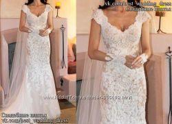Новое кружевное свадебное платье Рыбка Emma салон Bride недорого
