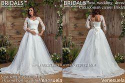 Новое кружевное свадебное платье 2017 А-силуэт Venesuela салон Bride