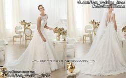 Новое кружевное свадебное платье А-силуэт Lenit салон Bride недорого