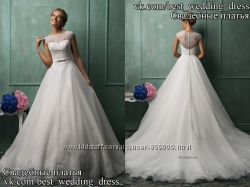 Новое кружевное свадебное платье А-силуэт Amelia салон Bride недорого