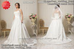 Новое атласное свадебное платье 2016 с карманами Athens салон Bride