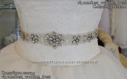 Новый В наличии нежный пояс для свадебного платья салон Bride недорого