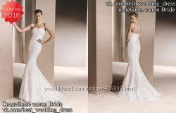 Новое Кружевное свадебное платье Русалка Rois 2016 салон Bride недорого