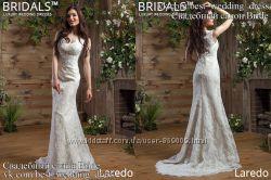 Новое кружевное свадебное платье 2017 Русалка Ларедо салон Bride недорого