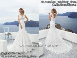 Новое кружевное свадебное платье силуэт рыбка Сильвия салон Bride недорого