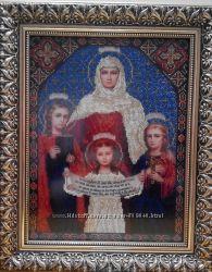 Вышивка бисером. Икона Вера, Надежда, Любовь и их мать София