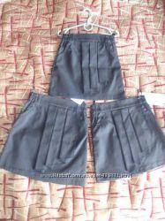 Шикарная школьная юбка в складку, р. 140