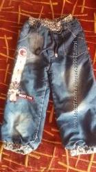 Зимние джинсы на махре на 4-5 лет