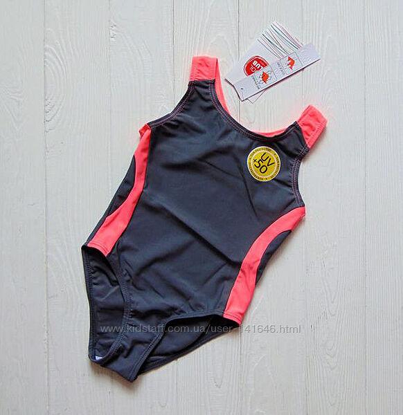 Cool club. 134-152 рост, спортивный купальник для девочки, Защита от солнца
