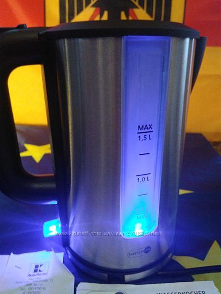 Чайник электрический, Германия дисковый новый вращается на 360 градусов