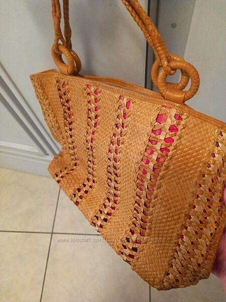 Эксклюзивная сумка из плетёный кожи