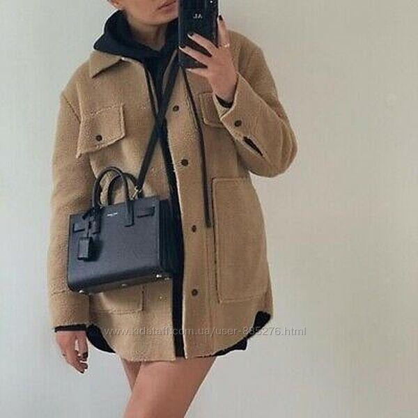 Меховая рубашка , куртка деми от Zara Зара
