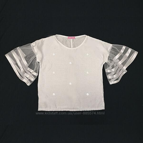 Интересная школьная блузка нарядная LC9-04-2