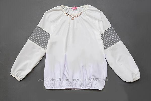 Школьная блузка с длинным рукавом OC9-09-2