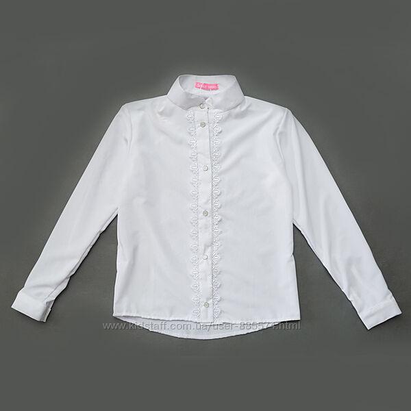 Блузка-рубашка школьная для девочки OC9-06-2