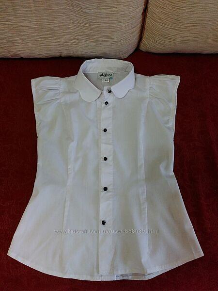блузка школьная белая 128-140р